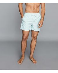 Reiss Swim Shorts - Drawstring Swim Shorts - Blue