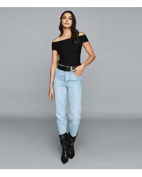 Reiss Megan - Knitted Bardot Top - Black