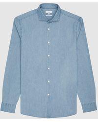 Reiss Draper - Chambray Shirt - Blue