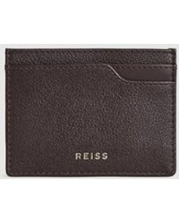 Reiss Pebble Grained Leather Card Holder - Multicolor