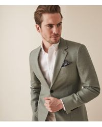 Reiss Richie - Textured Single Breasted Blazer - Multicolor
