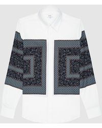 Reiss Darcy - Paisley Color Block Shirt - White