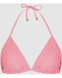 Reiss Triangle Bikini Top - Pink