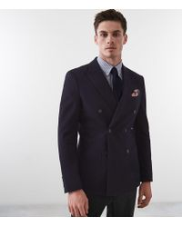 Reiss Weston - Double Breasted Blazer - Azul