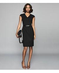 Reiss - Hartley - Tailored Wool Blend Dress - Lyst