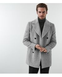 Reiss Bogart - Double Breasted Peacoat - Gris