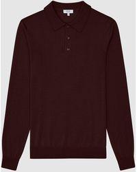 Reiss - Trafford - Merino Wool Polo Shirt - Lyst
