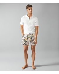 Reiss Richmond - Printed Swim Shorts - Multicolour