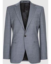 Reiss Atten - Wool Single Breasted Blazer - Blue