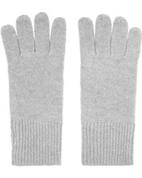 Reiss Cashmere Gloves - Gray