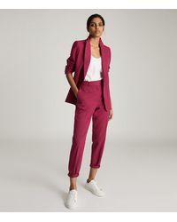 Reiss Miller - Slim Fit Tailored Pants - Pink