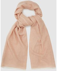 Reiss Wool Cashmere Blend Scarf - Pink