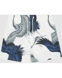Reiss Sunny - Printed Swim Shorts - White