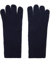 Reiss Cashmere Gloves - Blue
