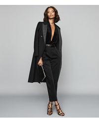 Reiss Rosalba - Long Sleeved Velvet Bodysuit - Black