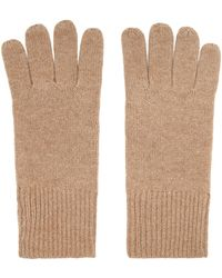 Reiss Cashmere Gloves - Natural