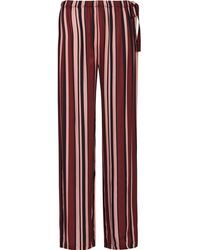 Reiss Striped Satin Pajama Bottoms - Multicolor