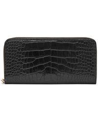 Reiss Murph - Textured Leather Purse - Black