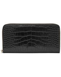 Reiss Textured Leather Purse - Black