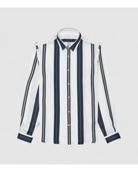 Reiss Fontaine - Regular Fit Striped Shirt - White