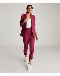 Reiss Miller - Slim Fit Tailored Blazer - Pink