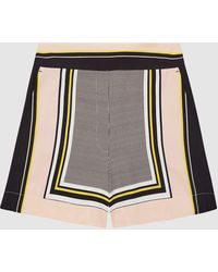 Reiss Scarf-print Shorts - Pink