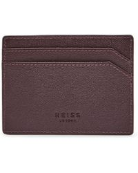 Reiss - Jacob Grained Leather Card Holder - Lyst