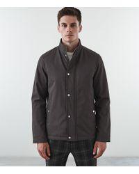 Reiss Heath - Zip Through Jacket - Gris