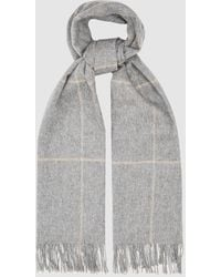 Reiss Polly - Wool Cashmere Blend Oversized Scarf - Gray