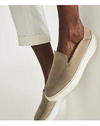 Reiss Acer - Nubuck Slip-on Loafers - Multicolour