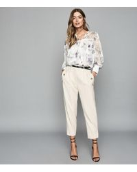 Reiss - Anneka - Floral Printed Smock Blouse - Lyst