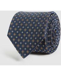 Reiss Lefty - Silk Blend Tie - Blue