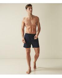 9b1a340621a2c Reiss Ditora Nature Print Swim Shorts in Blue for Men - Lyst