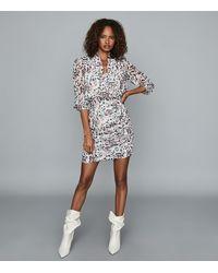 Reiss Dakota - Floral Printed Dress - White