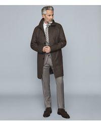 Reiss - Bolzano - Wool Blend Overcoat - Lyst