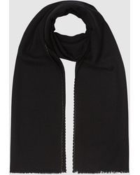 Reiss Aimee - Oversized Textured Scarf - Black