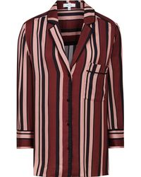 Reiss Striped Satin Pajama Shirt - Multicolor