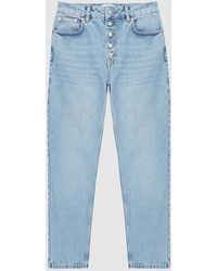 Reiss Lakely - Mid Rise Straight Jeans - Blue
