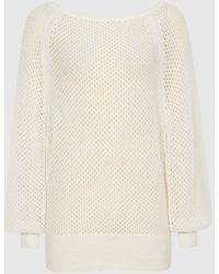 Reiss Laurie - Open-knit Sweater - White