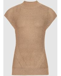Reiss Connie - Metallic Knitted Top - Multicolor