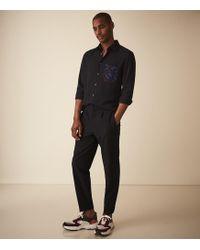 Reiss - Vigual - Slim Fit Shirt With Printed Pocket - Lyst