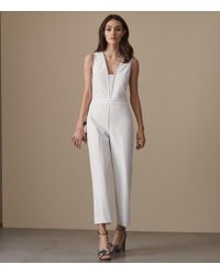 b2c144f28c6 Reiss Imie Crossover-front Straight-leg Jumpsuit in White - Lyst
