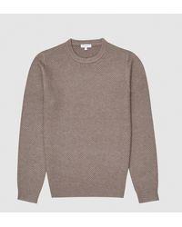 Reiss Brier - Textured Crew Neck Sweater - Multicolor