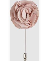Reiss Piani - Flower Dress Pin - Pink