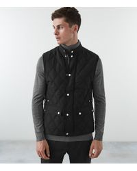 Reiss - Drake - Premium Quilted Gilet - Lyst