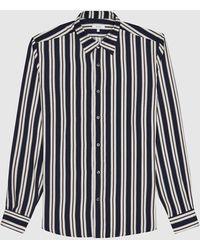 Reiss Keanu - Striped Shirt - Blue