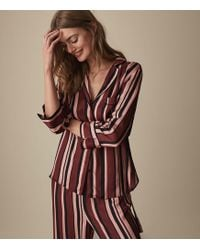 Reiss Tilda - Striped Satin Pajama Shirt - Multicolor