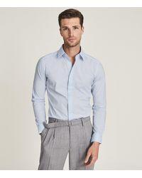 Reiss - Kiana - Cotton Stretch Poplin Slim Fit Shirt - Lyst