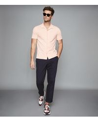 19421cf2b4 Reiss Vista - Cuban Collar Striped Shirt for Men - Lyst