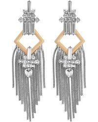 Reiss Tassel Detail Earrings In Gold, Womens - Metallic